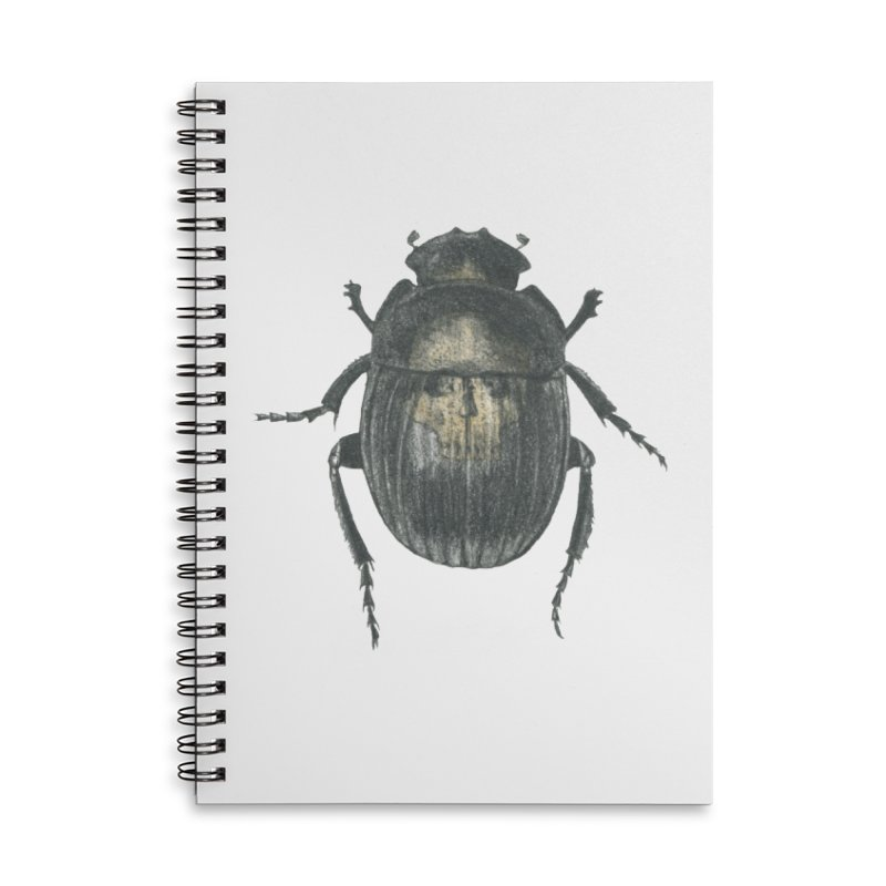 Death Scarab Accessories Lined Spiral Notebook by Stephanie Inagaki