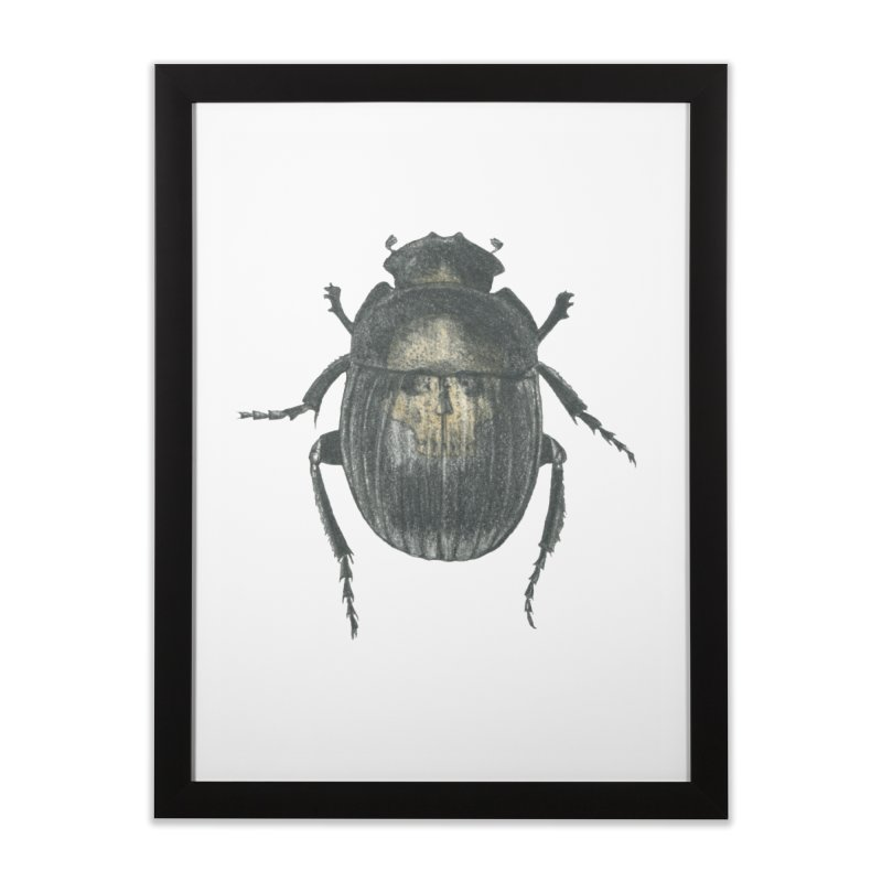 Death Scarab Home Framed Fine Art Print by Stephanie Inagaki