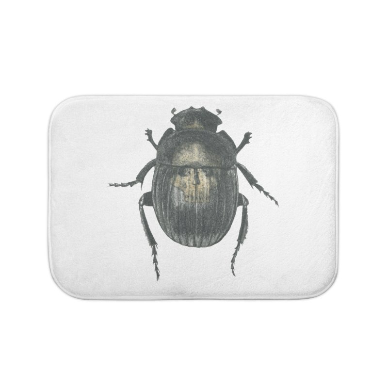 Death Scarab Home Bath Mat by Stephanie Inagaki