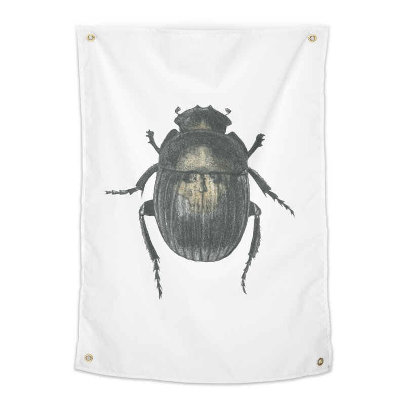 Death Scarab Home Tapestry by Stephanie Inagaki