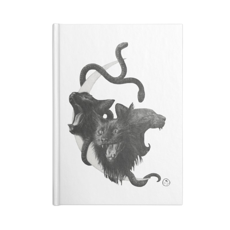 Harpies Accessories Blank Journal Notebook by Stephanie Inagaki
