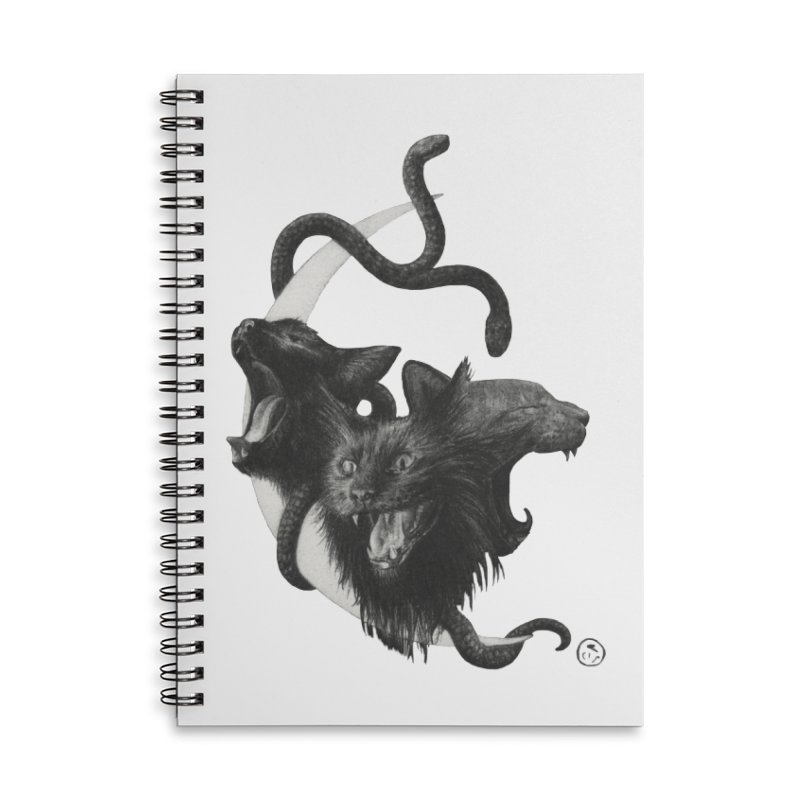 Harpies Accessories Lined Spiral Notebook by Stephanie Inagaki