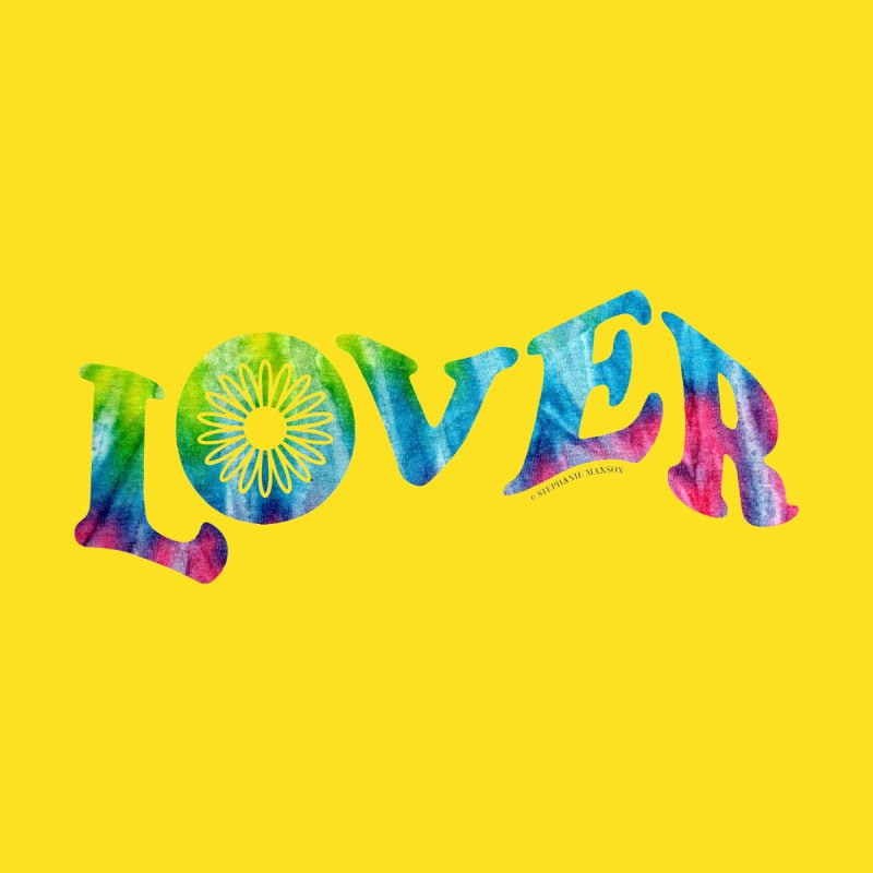 Lover Typography | Tie-Dye by Shop Stephanie Manson Design