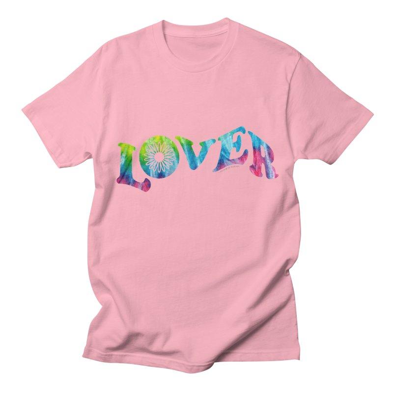 Lover Typography | Tie-Dye Men's T-Shirt by Shop Stephanie Manson Design