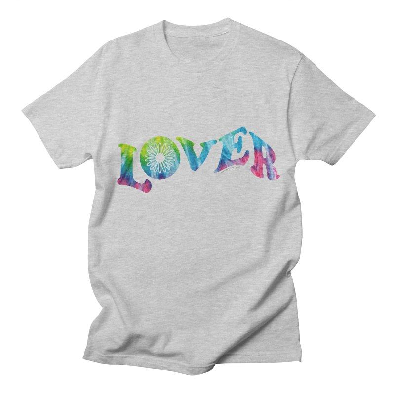 Lover Typography   Tie-Dye Men's T-Shirt by Shop Stephanie Manson Design