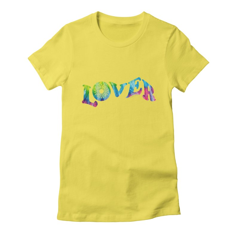 Lover Typography | Tie-Dye Women's T-Shirt by Shop Stephanie Manson Design