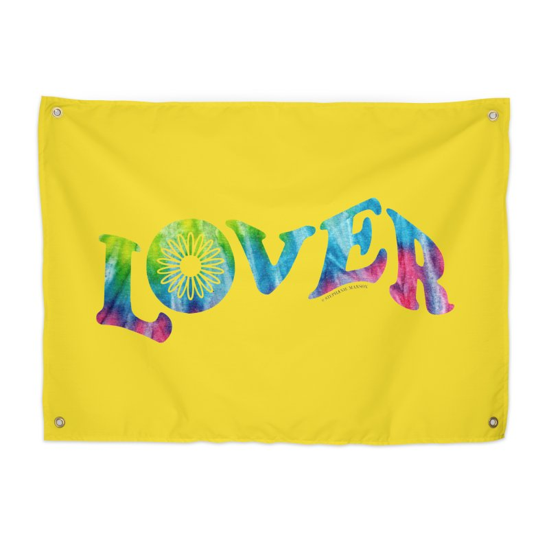 Lover Typography | Tie-Dye Home Tapestry by Shop Stephanie Manson Design