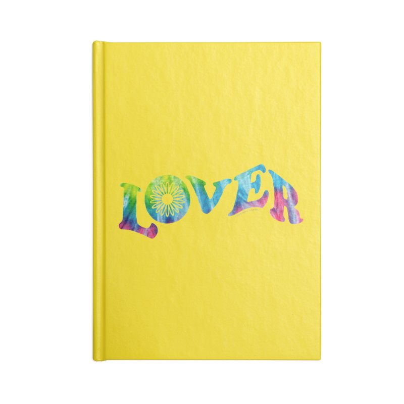 Lover Typography | Tie-Dye Accessories Notebook by Shop Stephanie Manson Design