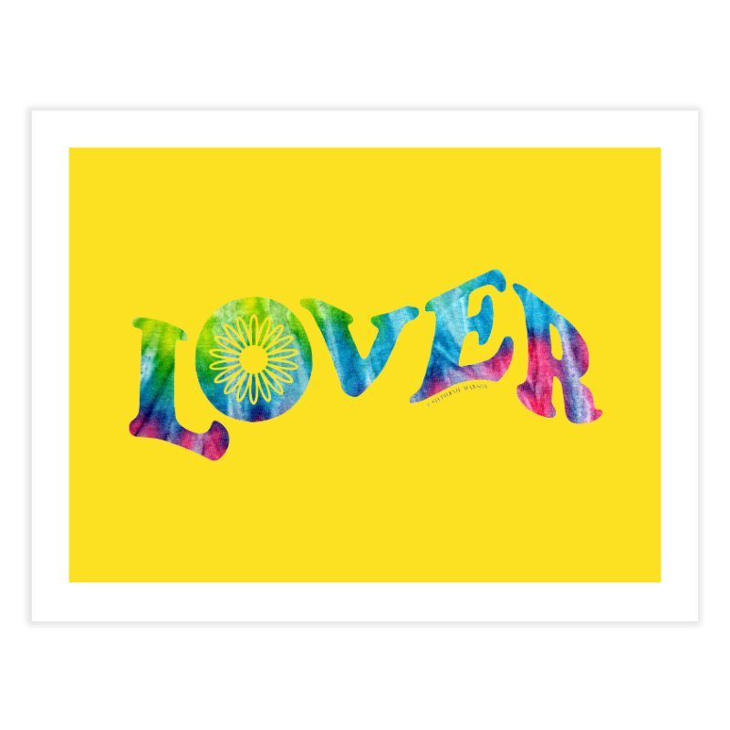 Lover Typography | Tie-Dye Home Fine Art Print by Shop Stephanie Manson Design