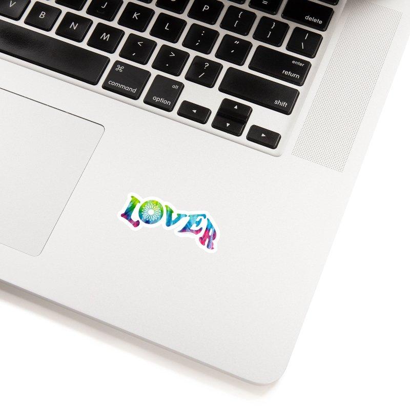 Lover Typography | Tie-Dye Accessories Sticker by Shop Stephanie Manson Design