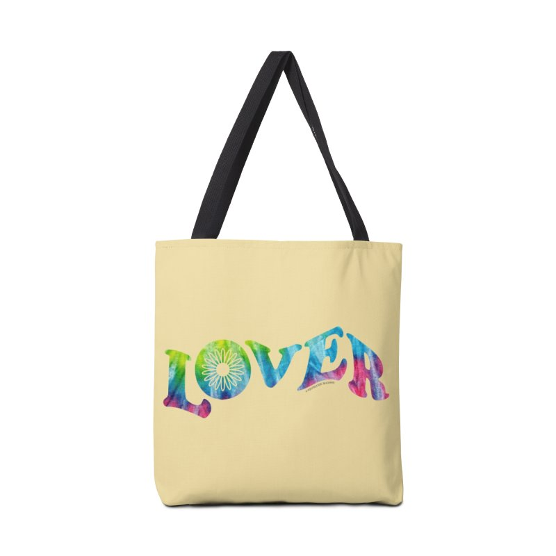 Lover Typography | Tie-Dye Accessories Tote Bag Bag by Shop Stephanie Manson Design