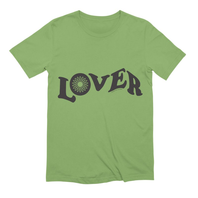 Lover Typography | Black Men's Extra Soft T-Shirt by Shop Stephanie Manson Design
