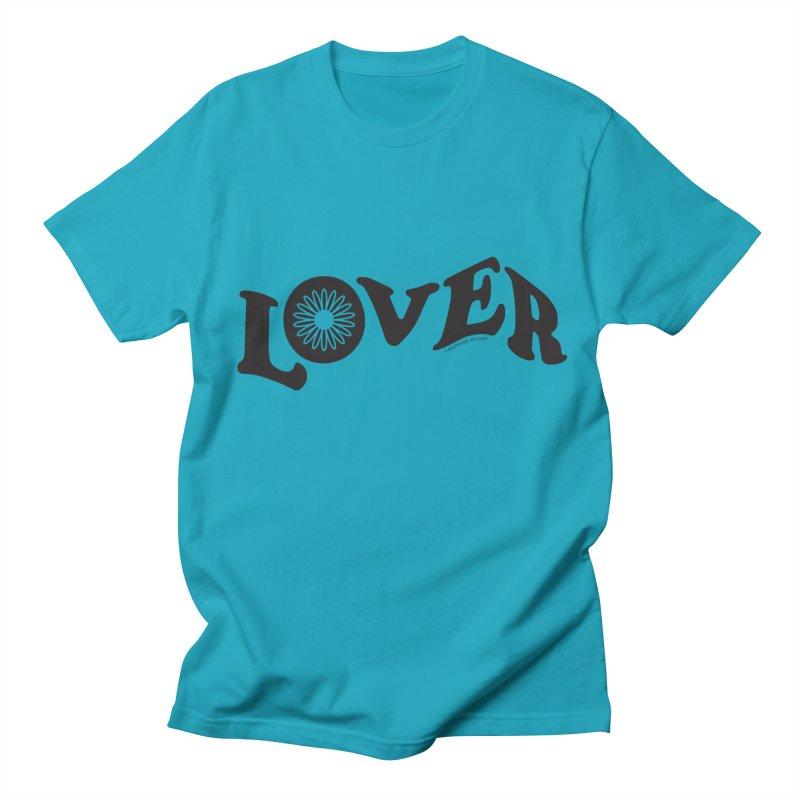 Lover Typography | Black Men's T-Shirt by Shop Stephanie Manson Design