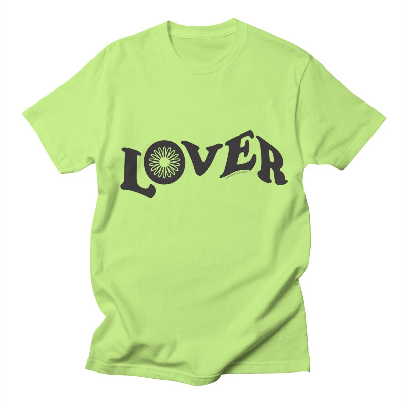 Lover Typography | Black Men's T-Shirt by Shop Stephanie Manson Design