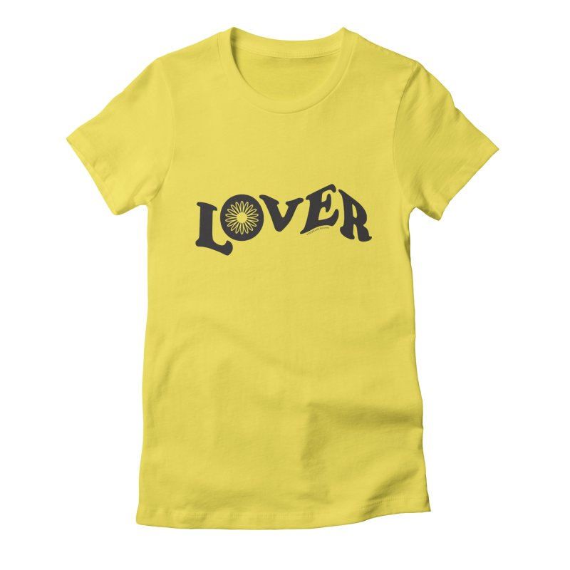 Lover Typography | Black Women's T-Shirt by Shop Stephanie Manson Design