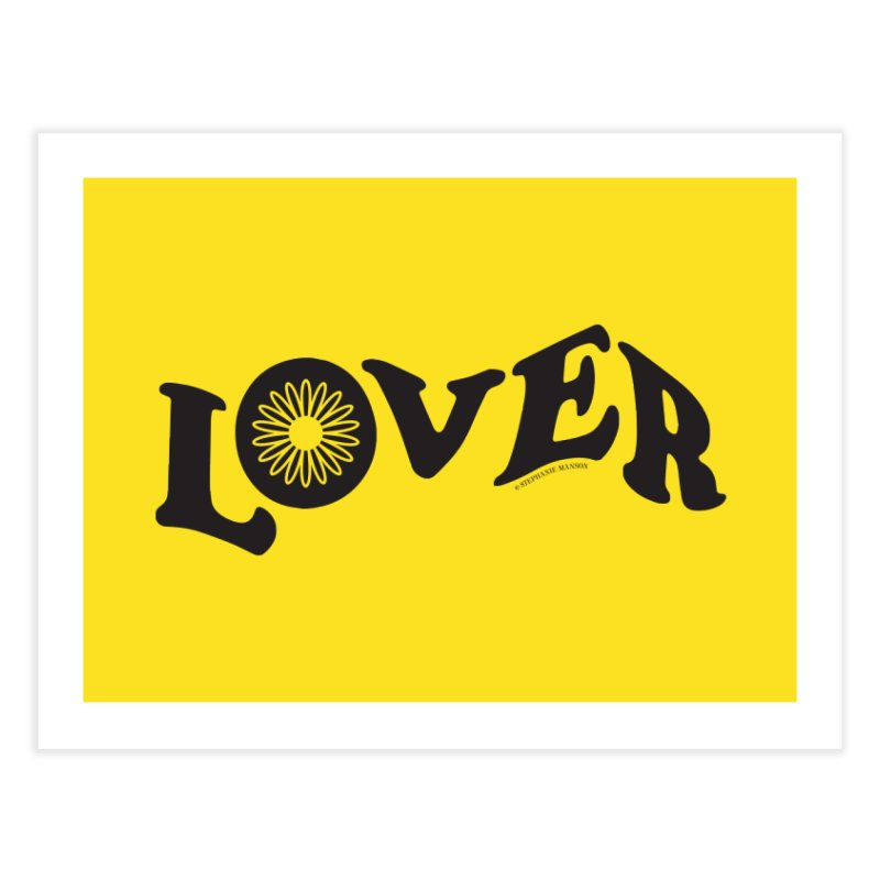 Lover Typography | Black Home Fine Art Print by Shop Stephanie Manson Design