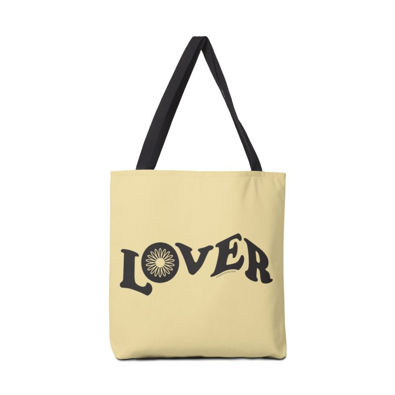 Lover Typography | Black Accessories Tote Bag Bag by Shop Stephanie Manson Design