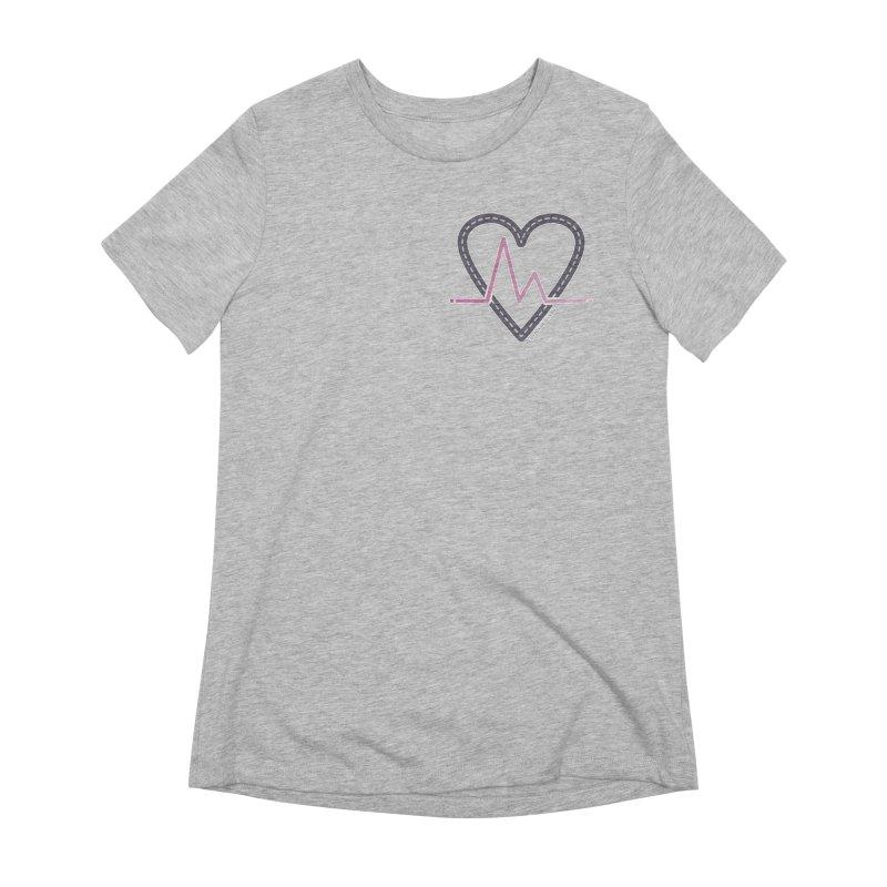 Heartbeat Women's Extra Soft T-Shirt by Shop Stephanie Manson Design