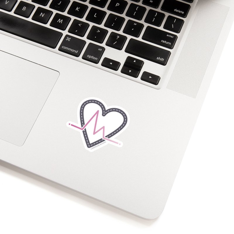 Heartbeat Accessories Sticker by Shop Stephanie Manson Design