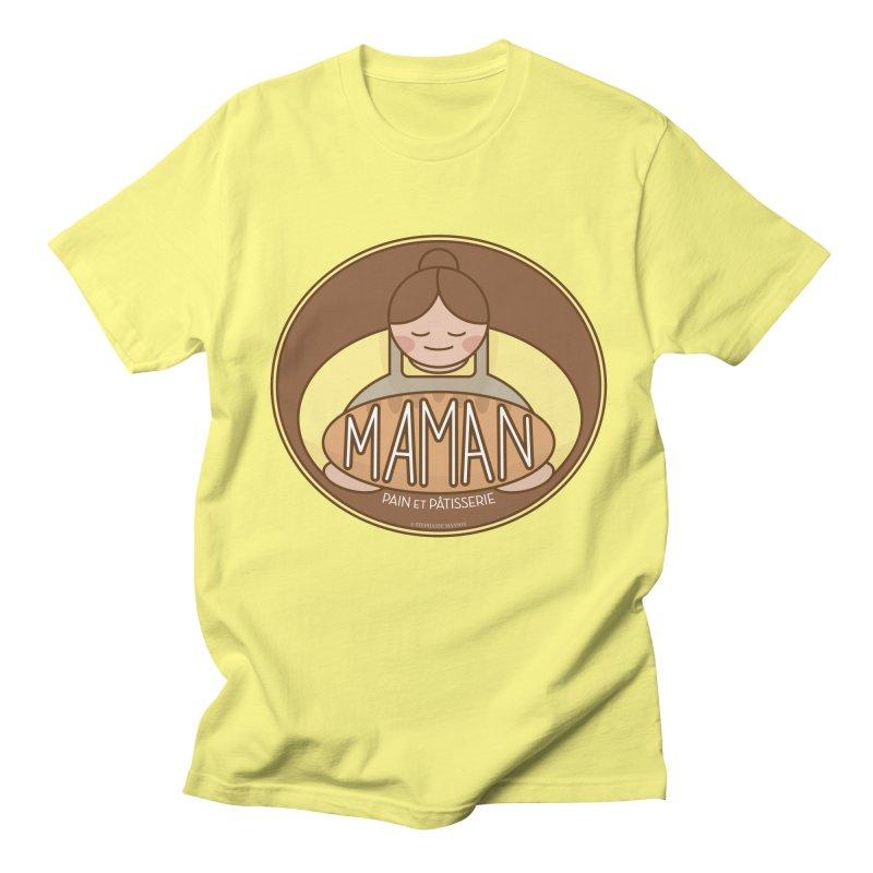 Maman Pain et Pâtisserie Badge Men's T-Shirt by Shop Stephanie Manson Design