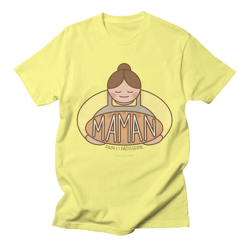 Maman Pain et Pâtisserie Logo Men's T-Shirt by Shop Stephanie Manson Design