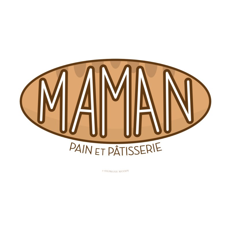 Maman Pain et Pâtisserie Typography Accessories Phone Case by Shop Stephanie Manson Design
