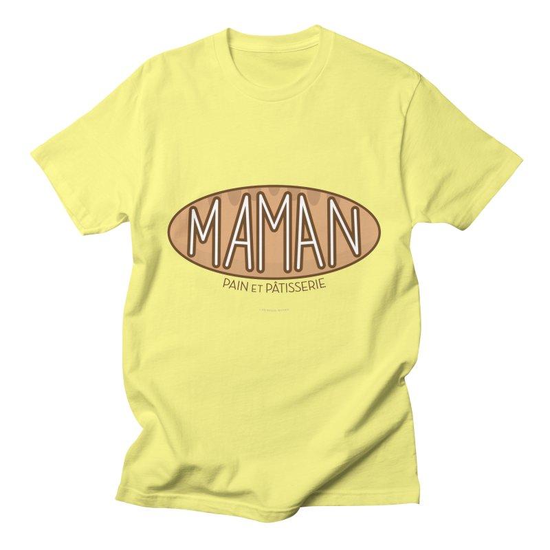 Maman Pain et Pâtisserie Typography Men's T-Shirt by Shop Stephanie Manson Design