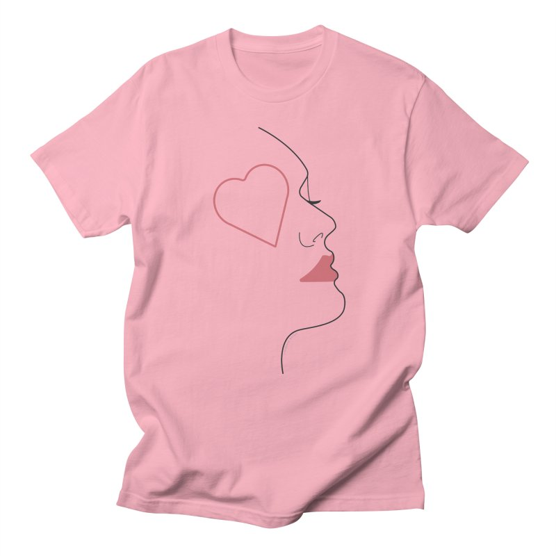 Minimalist Feminine Silhouette   Black Men's T-Shirt by Shop Stephanie Manson Design
