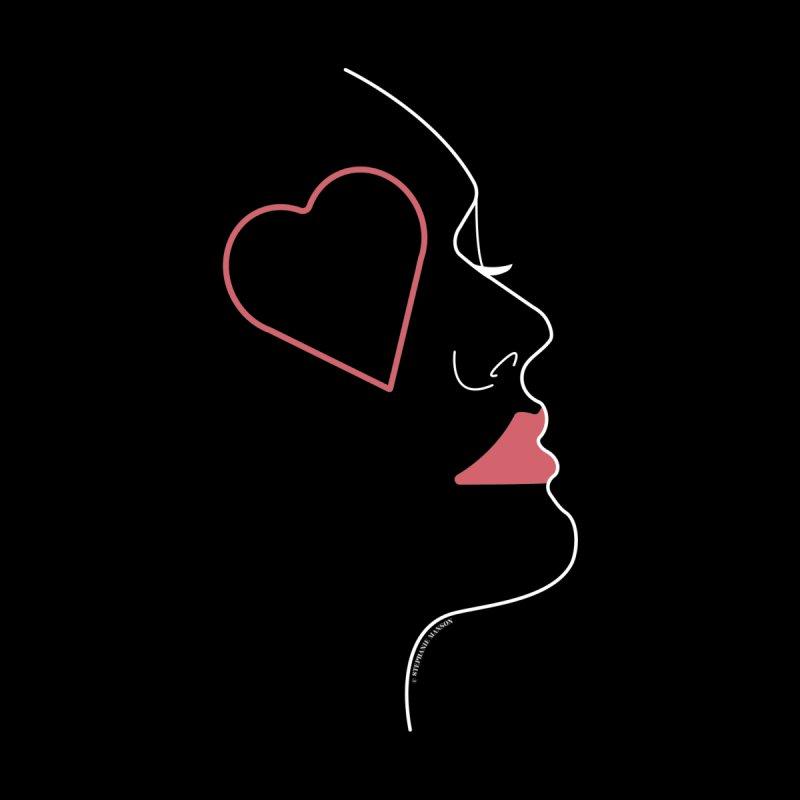 Minimalist Feminine Silhouette | White Men's T-Shirt by Shop Stephanie Manson Design