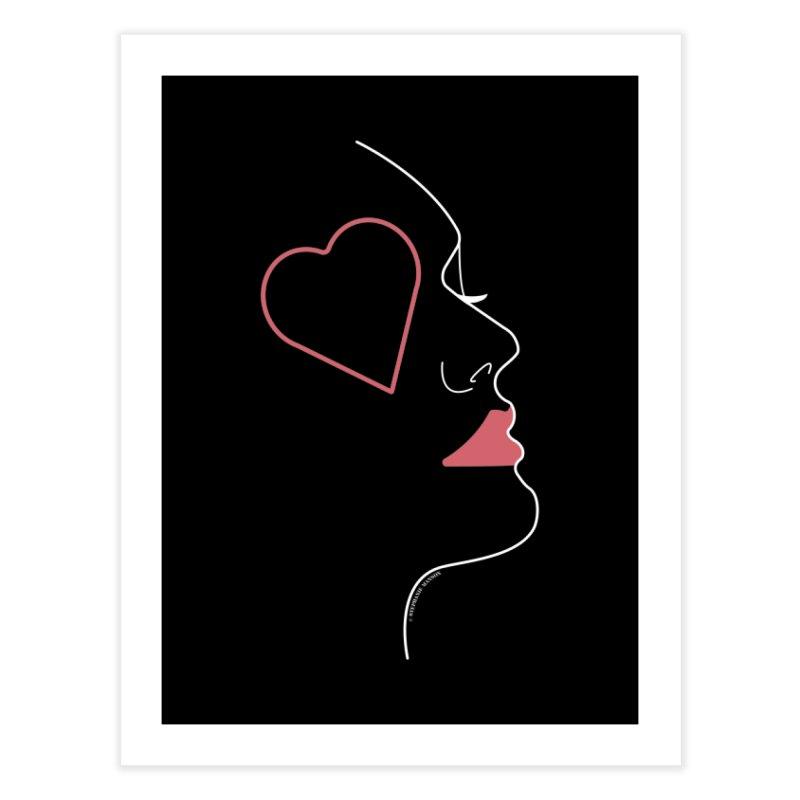 Minimalist Feminine Silhouette | White Home Fine Art Print by Shop Stephanie Manson Design