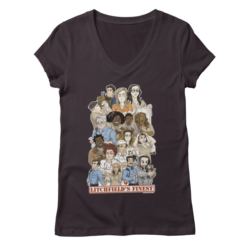 Litchfield's Finest Tee Women's Regular V-Neck by Steph Dere's Artist Shop