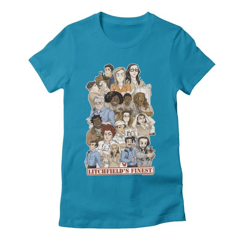 Litchfield's Finest Tee Women's Fitted T-Shirt by Steph Dere's Artist Shop