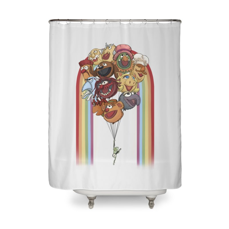Rainbow Connection Home Shower Curtain by Steph Dere's Artist Shop