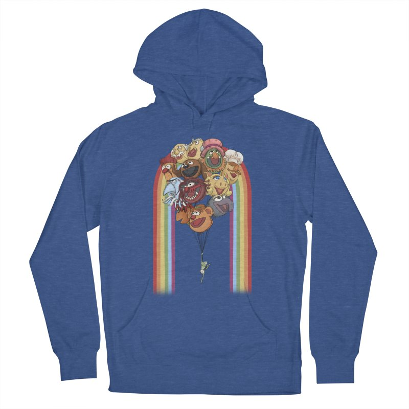 Rainbow Connection Men's French Terry Pullover Hoody by Steph Dere's Artist Shop
