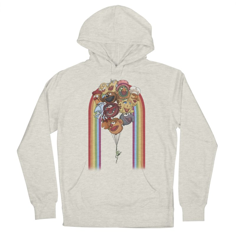 Rainbow Connection Men's French Terry Pullover Hoody by stephdere's Artist Shop