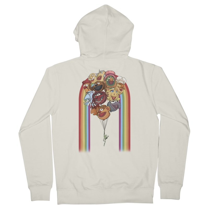 Rainbow Connection Men's French Terry Zip-Up Hoody by Steph Dere's Artist Shop