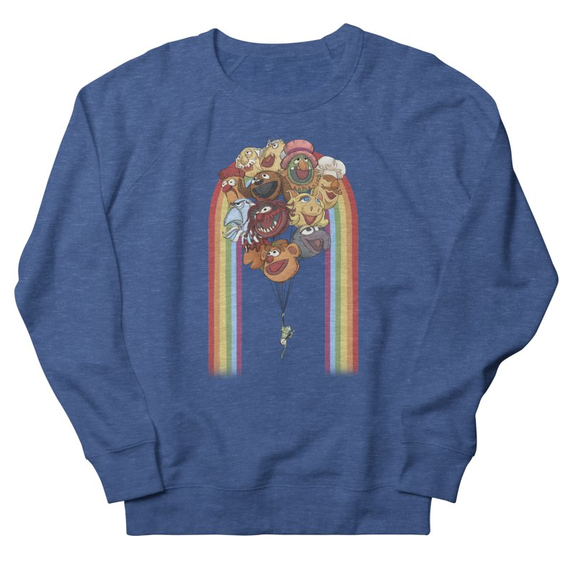 Rainbow Connection Women's French Terry Sweatshirt by stephdere's Artist Shop