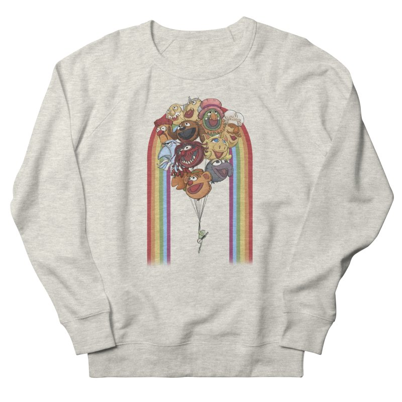 Rainbow Connection Men's French Terry Sweatshirt by Steph Dere's Artist Shop