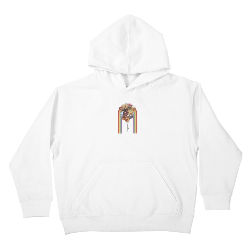 Rainbow Connection Kids Pullover Hoody by Steph Dere's Artist Shop