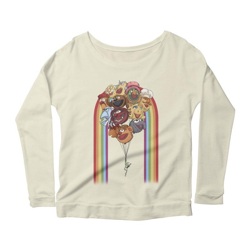 Rainbow Connection Women's Scoop Neck Longsleeve T-Shirt by Steph Dere's Artist Shop