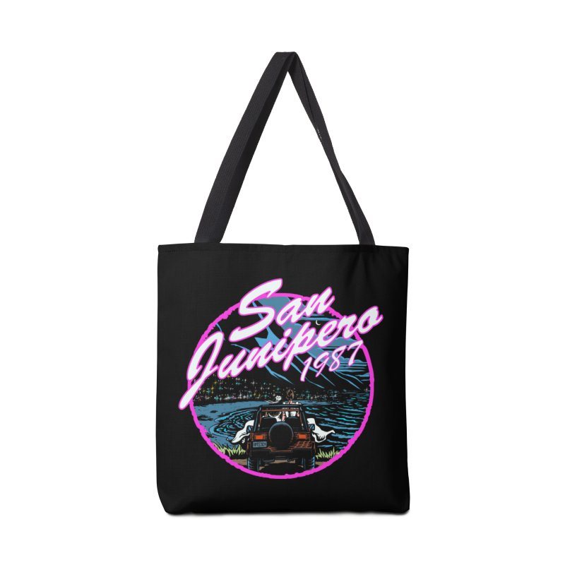 San Junipero in Pink Accessories Tote Bag Bag by Steph Dere's Artist Shop