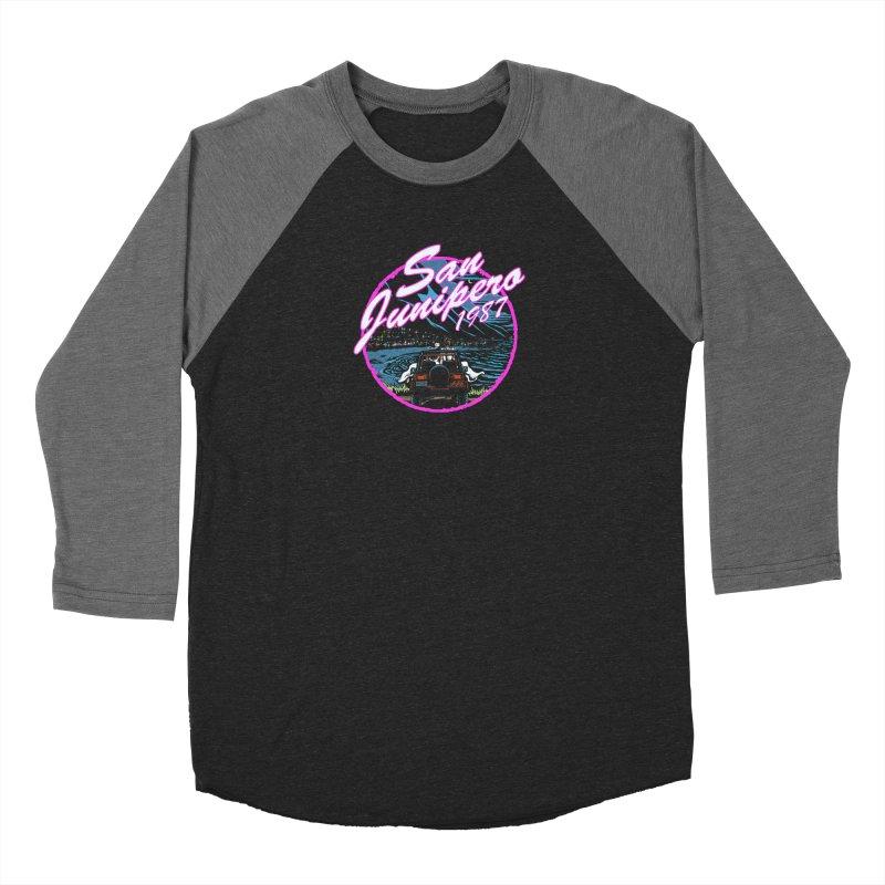 Vintage Art San Junipero in Pink Men's Longsleeve T-Shirt by Steph Dere's Artist Shop