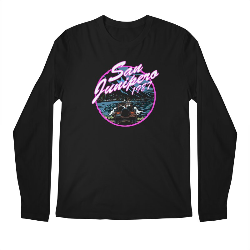 San Junipero in Pink Men's Regular Longsleeve T-Shirt by Steph Dere's Artist Shop