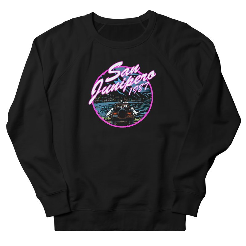 San Junipero in Pink Men's French Terry Sweatshirt by stephdere's Artist Shop