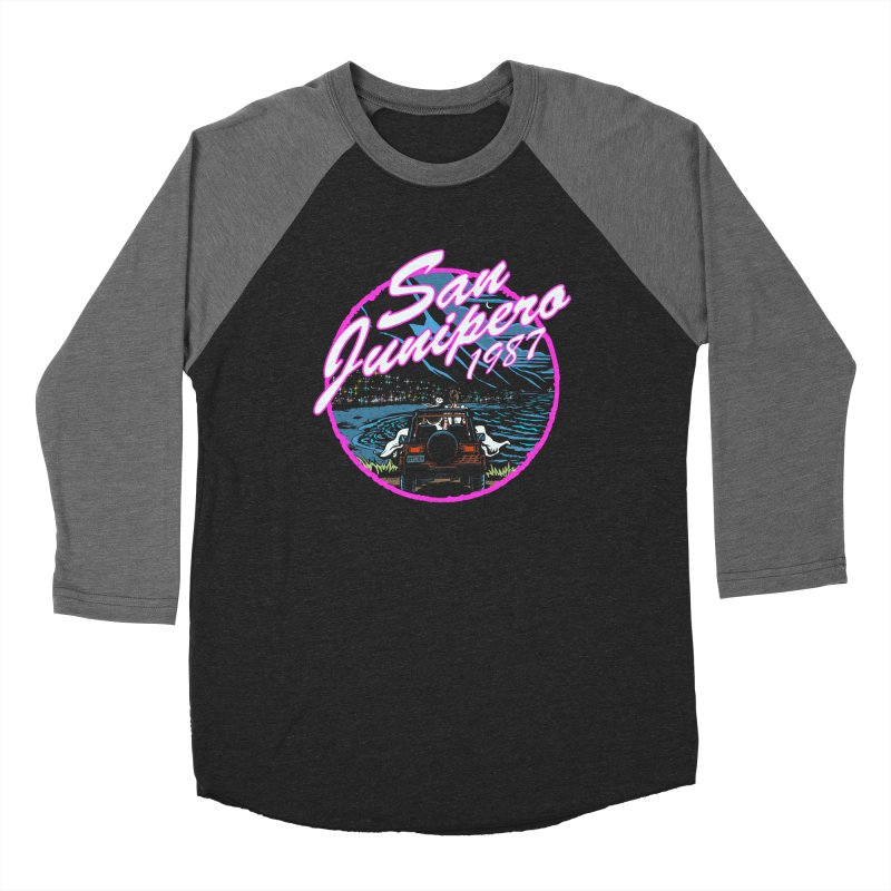 San Junipero in Pink Men's Baseball Triblend Longsleeve T-Shirt by Steph Dere's Artist Shop