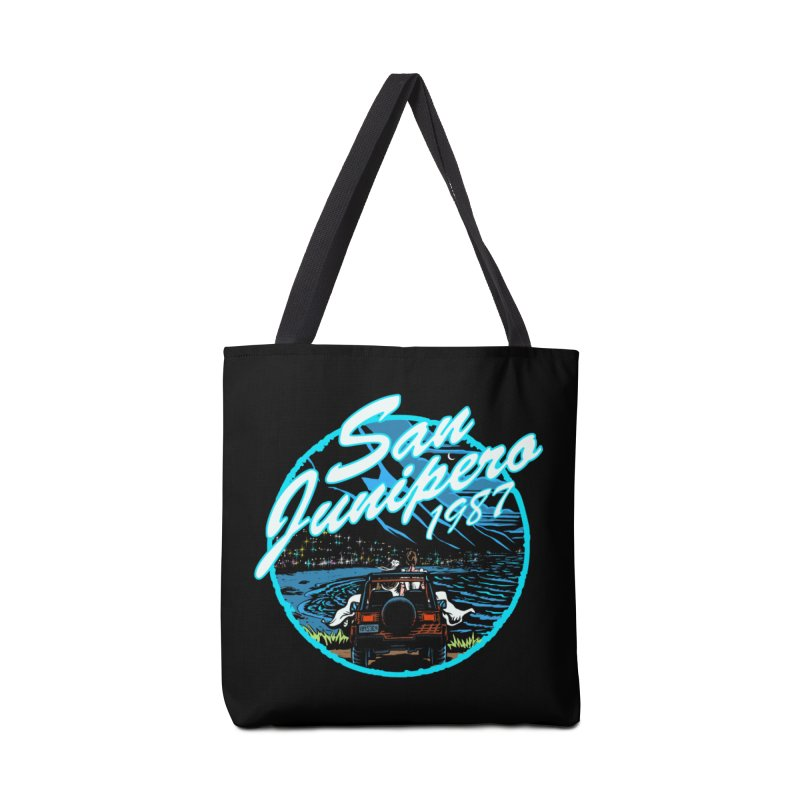 San Junipero in Blue Accessories Tote Bag Bag by Steph Dere's Artist Shop