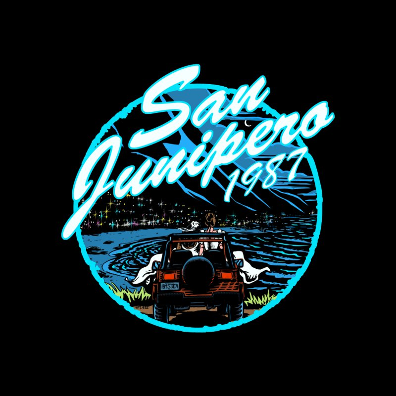 San Junipero in Blue by Steph Dere's Artist Shop