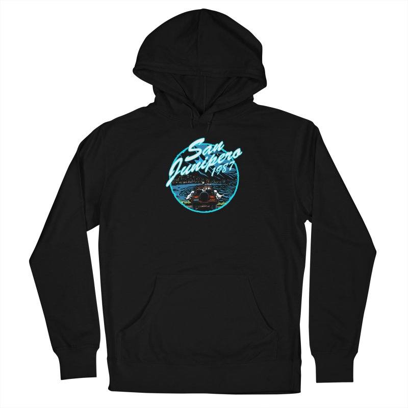 San Junipero in Blue Men's Pullover Hoody by Steph Dere's Artist Shop