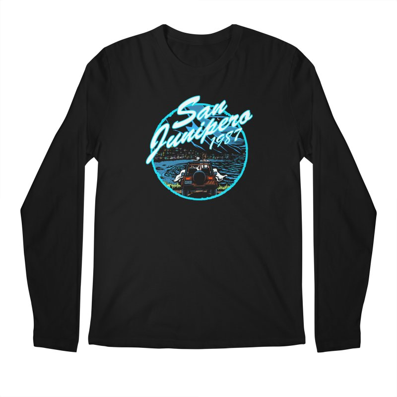 San Junipero in Blue Men's Longsleeve T-Shirt by Steph Dere's Artist Shop