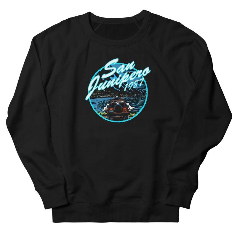 San Junipero in Blue Women's French Terry Sweatshirt by stephdere's Artist Shop